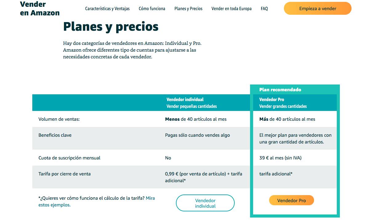 Plataformas de ventas online: Amazon