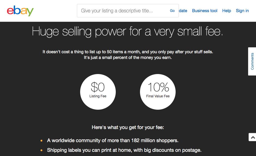 Plataformas de ventas online: Ebay subastas