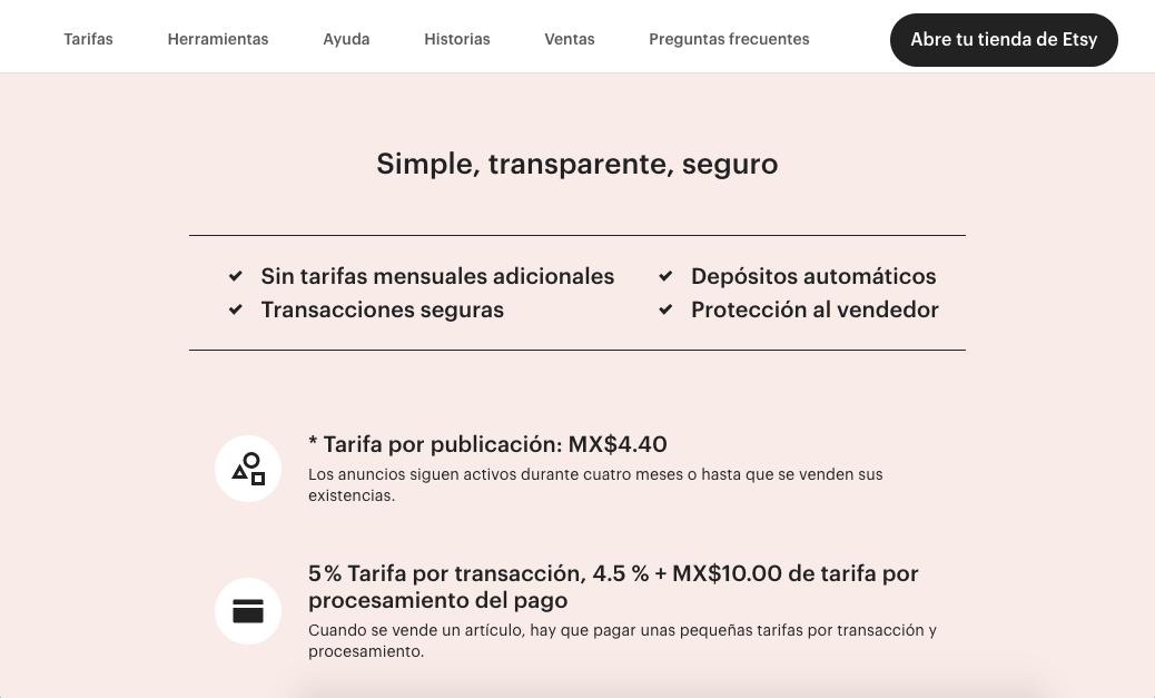 Plataformas de ventas online: Etsy