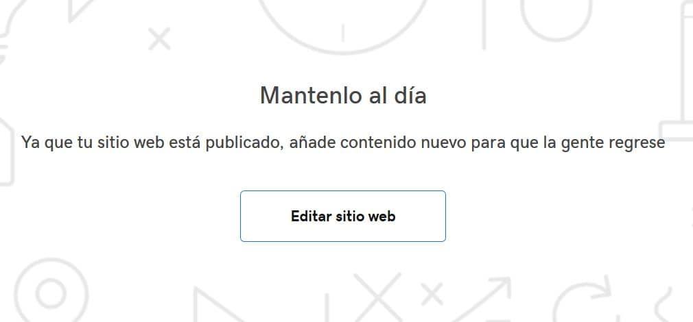 Editar página web GoDaddy