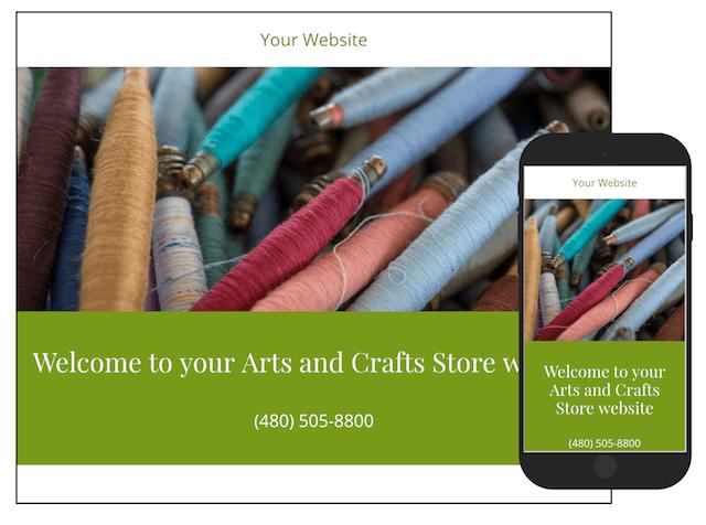 Plantillas GoDaddy para tienda online de artesanías