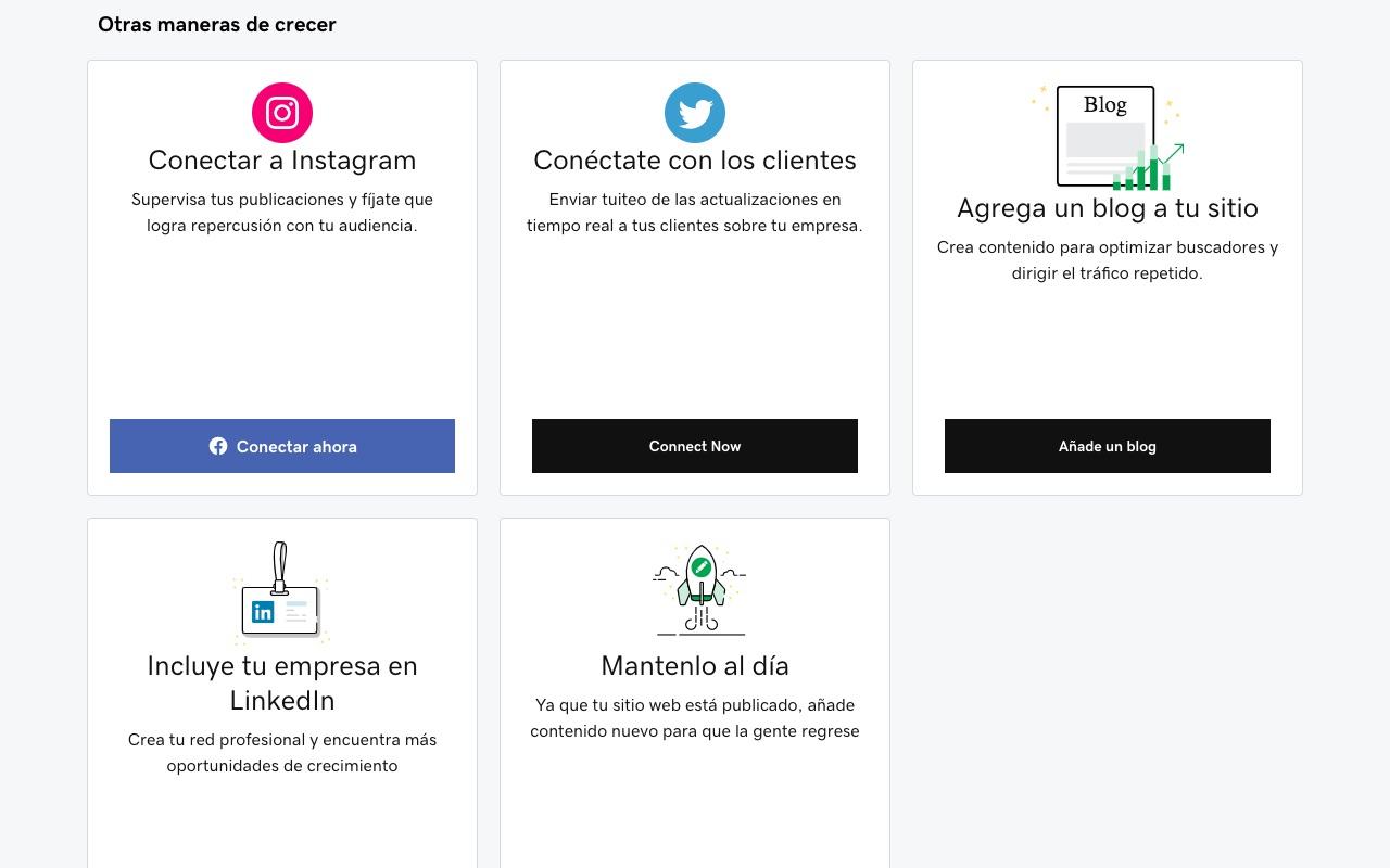 conecta tus redes sociales en Páginas Web + Marketing