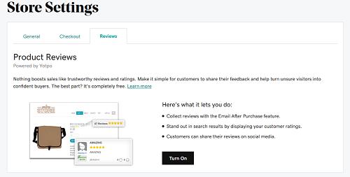 habilita reseñas en tienda online GoDaddy