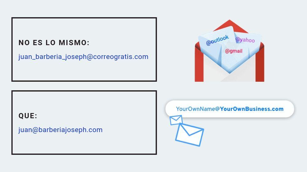 Comparación correo gratis vs correo empresarial