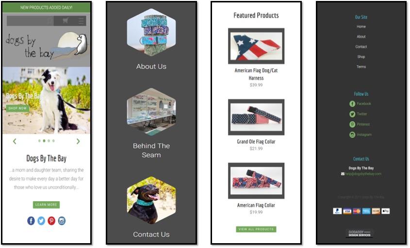 GoDaddy ejemplo diseño web