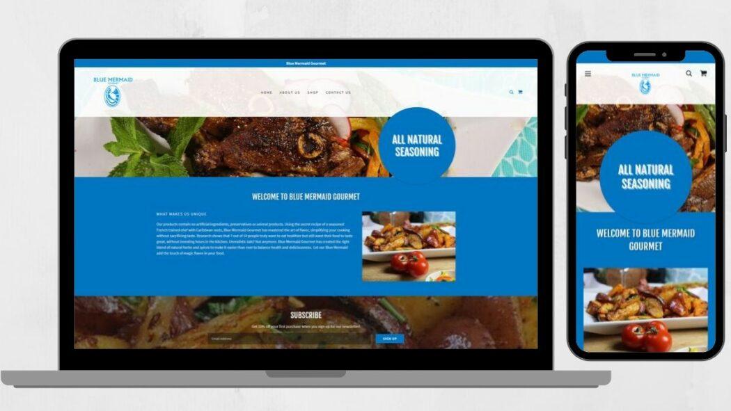 Ejemplo sitio de ecommerce hecho con GoDaddy