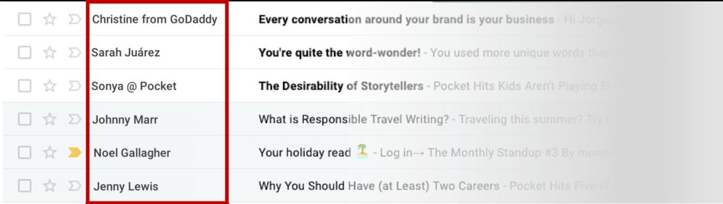 Ejemplo remitentes de correo personalizado