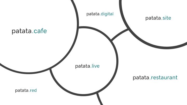 Ejemplos de dominios alternativos a patata.com