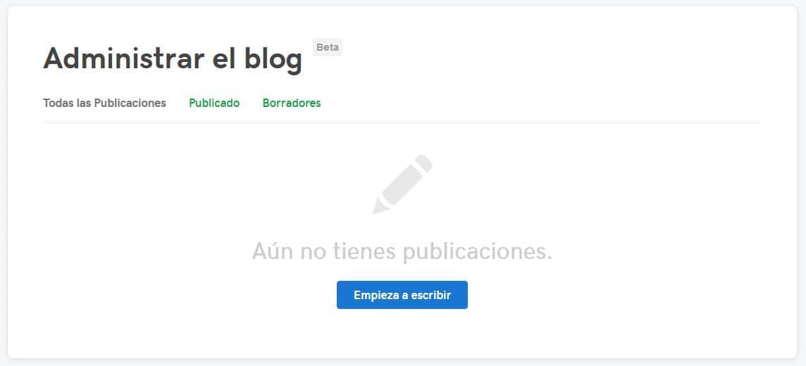 Administra tus publicaciones de blog
