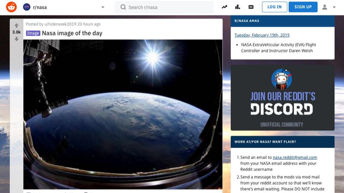 Reddit NASA, un foro web espacial