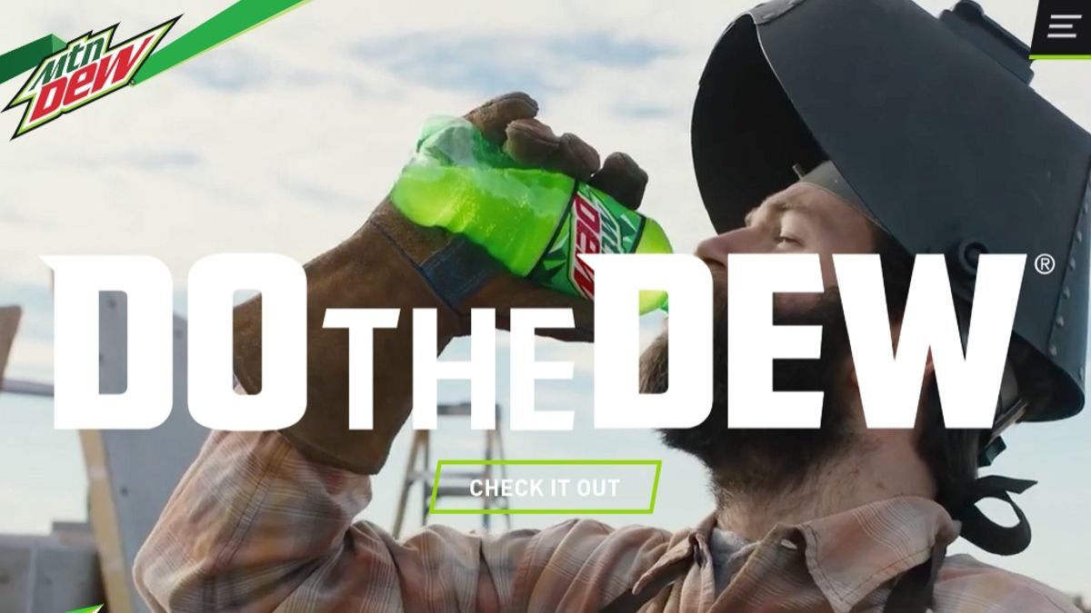 Mountain Dew, sitio de branding