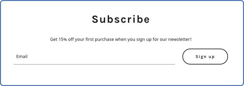 formulario de registro a newsletter con cupón