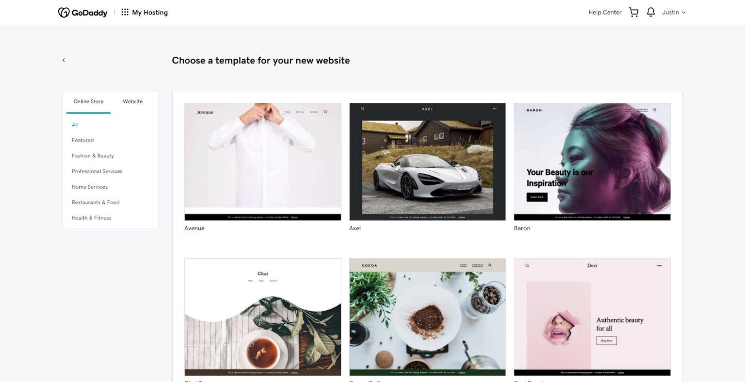 Plantillas para tienda online de Hosting WordPress