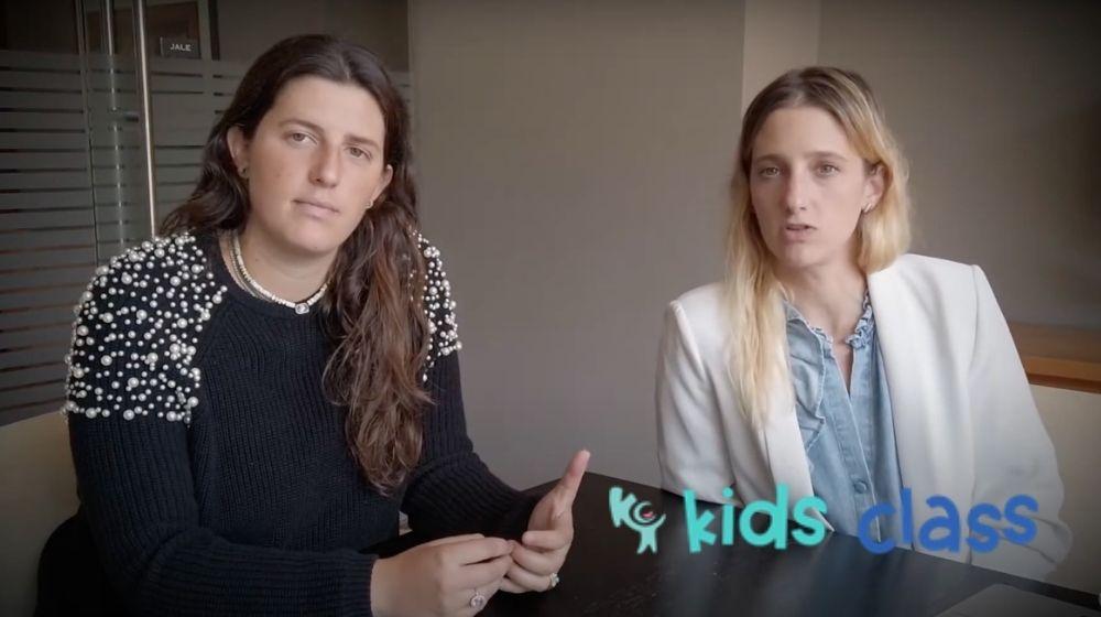 Ariela y Michelle de Kids Class: emprendedoras GoDaddy