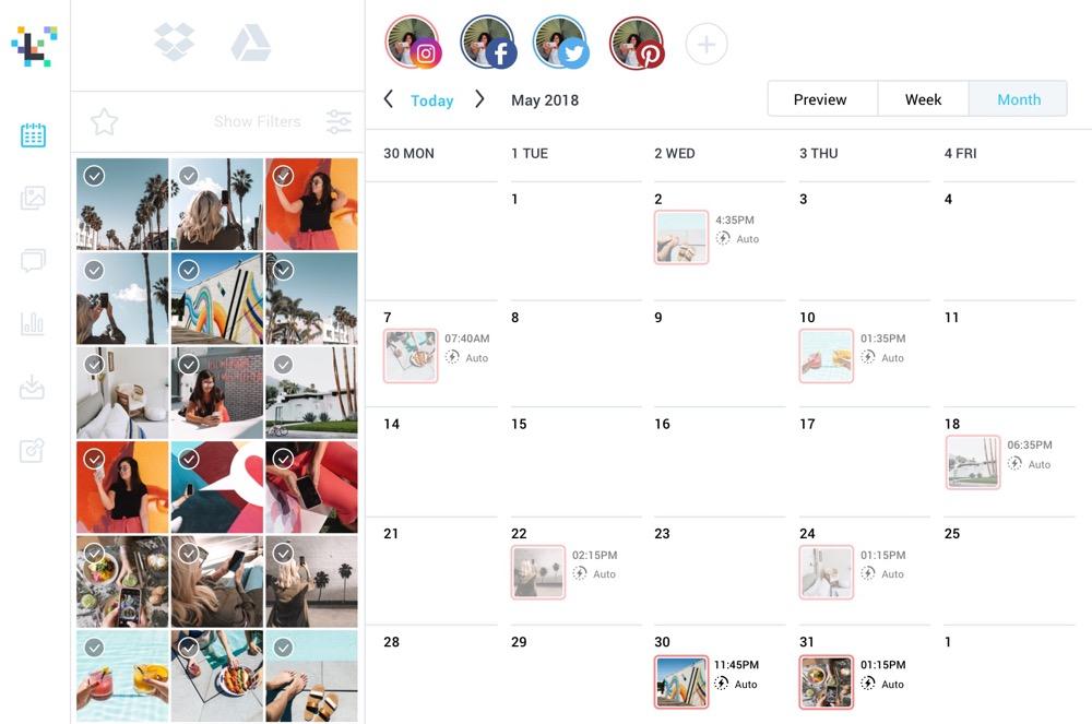 Image ALT: Herramientas gratis para redes sociales: Later
