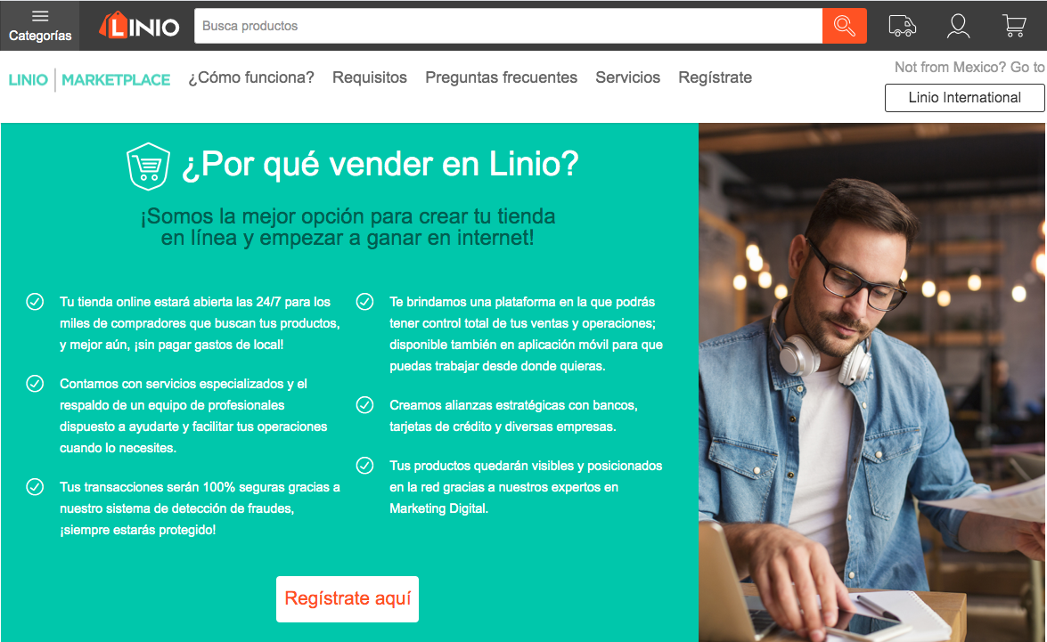 Plataformas de ventas online: Linio