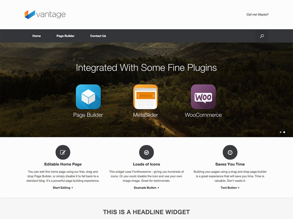 Vantage, plantilla gratis para ecommerce WordPress