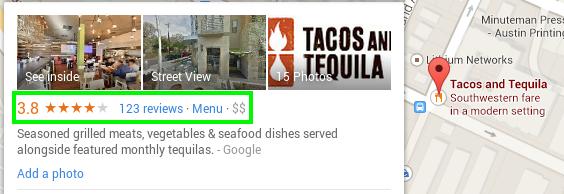 Ejemplo perfil Google Maps