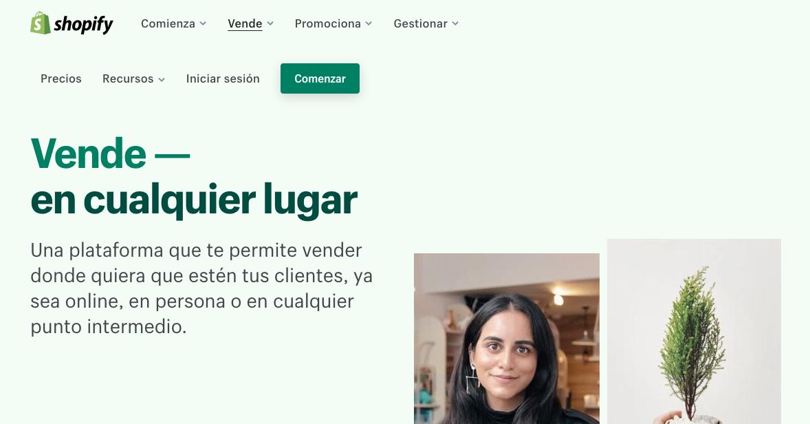 Plataformas de ventas online: Shopify