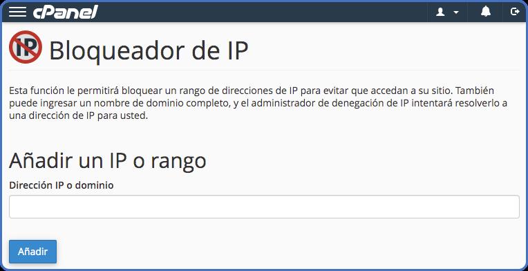 Bloquear IP en cPanel