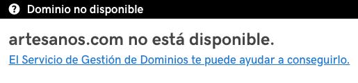 Ejemplo de dominio no disponible