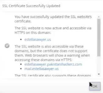 Has instalado exitosamente varios dominios con un certificado SSL UCC.