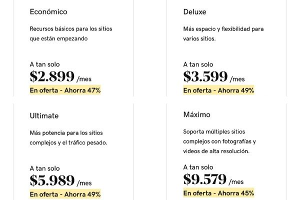 Planes de hosting compartido en Chile. GoDaddy