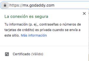Certificado SSL: cómo luce un sitio web seguro