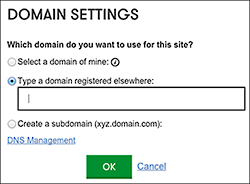Cambia el nombre de dominio en el Website Builder de GoDaddy