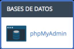 Icono de phpMyAdmin en cPanel