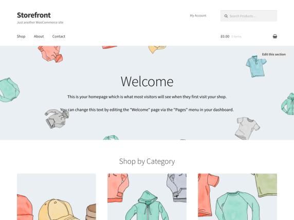 Storefront, plantilla para tienda en línea WooCommerce