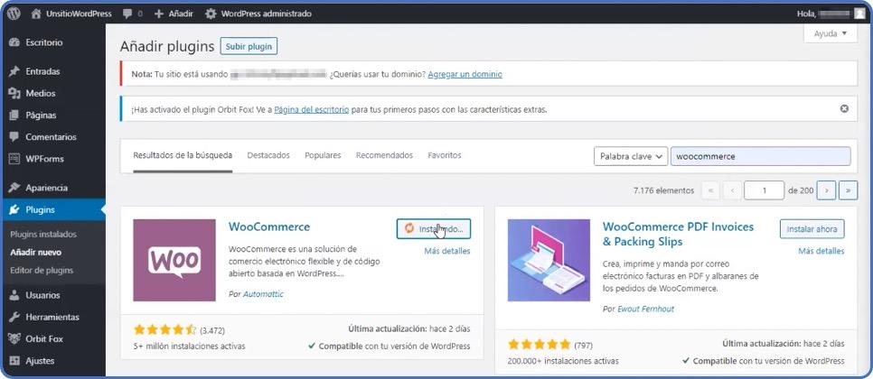 WordPress instalar plugin WooCommerce