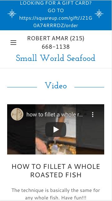 Ejemplo de página web de emprendedores: Small World Seafood