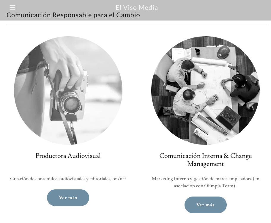 Ejemplo de página web de portafolio digital: El Viso Media