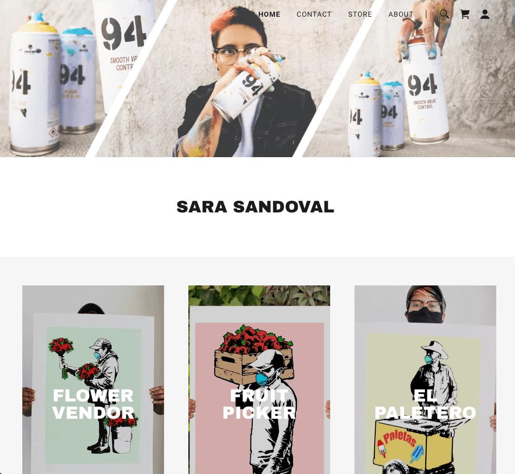 Ejemplo de página web de portafolio digital: Sara Sandoval